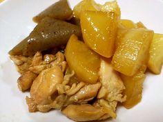 照り大根と鶏肉の簡単煮物の画像