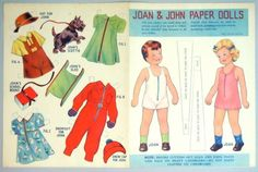 Advertising Paper Doll Sheet Talon Slide Fasteners Joan John 1938 | eBay