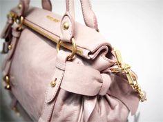 e82ad12b7cb3 Miu Miu Pink Distressed Glazed Mini Butterfly Bow Bag