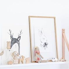 Wilbur the stacking dog likes his new home at @outwithaudrey. Beautiful shelf styling ...✨