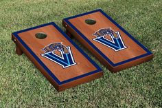 Villanova University Wildcats Rosewood Cornhole Bag Toss Set