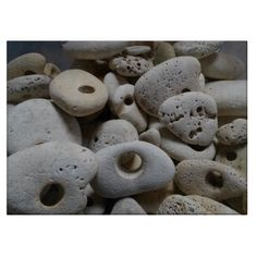 Stones with holes chopping board.