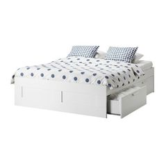 Queen bed with drawer storage