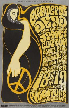 Psychadelic Lettering. Grateful Dead. James Cotton Blues Band. Lothar & the Hand People. Fillmore.