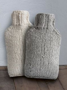 Wärmflasche Strickhülle