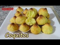 Coquitos con solo 3 ingredientes, divinos más fácil imposible Cake Recipes, Dessert Recipes, Desserts, Luau Cookies, Venezuelan Food, Sin Gluten, Gluten Free Recipes, Cupcake Cakes, Bakery