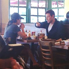 Lea Michele and Cory Monteith having breakfast in West Hollywood June 14th. #monchele