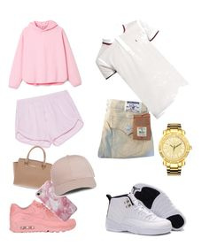 """""""Me and him"""" by jamyaher on Polyvore featuring True Religion, NIKE, Michael Kors, Yves Saint Laurent and JBW"""