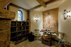 Wine cellar, Sagee Manor (Highlands, North Carolina).