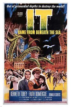 it CAME from beneath the SEA movie poster robert GORDON director 1955 24X36