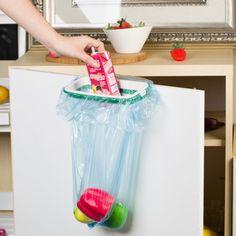 2016 Brand Rubbish Bag Storage Rack Hanging Kitchen Cupboard Door Back Stand Trash Garbage Bags Storage Rack Bag Clip