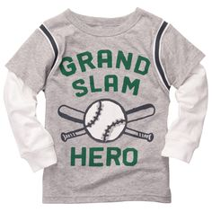 Layered-Look Embellished Graphic Tee   Baby Boy Tops