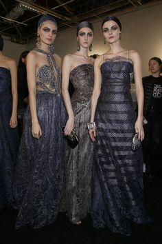 Backstage at Giorgio Armani Privé Spring 2014 Haute Couture