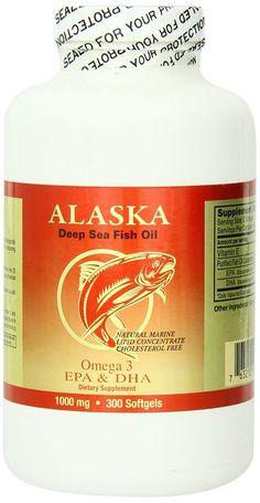 NCB Alaska Deep Sea Fish Oil, Omega 3 1000mg 300 Softgels ** Check this awesome image  : Cat Health and Supplies