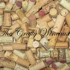 Wanna try your own #Wine #Cork #Crafts? Or want only the highest quality corks for your #Home #Decor #Idea? Check these out! Also on thecraftywineaux.com!