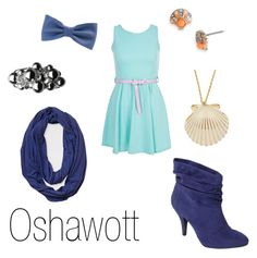 """""""Oshawott"""" by ja-vy ❤ liked on Polyvore featuring Miso, Links of London, Juicy Couture, Journee Collection, Levi's, American Apparel, pokemon and oshawott"""