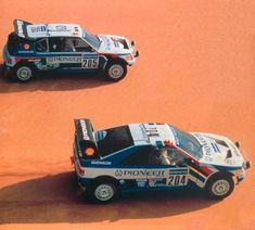 Peugeot 405 & 205 @ Dakar 1988: The year the leading car was stolen – during the race!