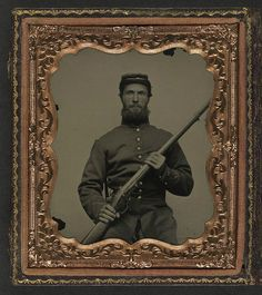 [Unidentified soldier in Union uniform with musket] (LOC) by The Library of Congress, via Flickr