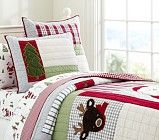 Dear Santa Quilted Bedding | Pottery Barn Kids