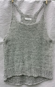 Newsprint Inside/Out Tank — Cara May Knits