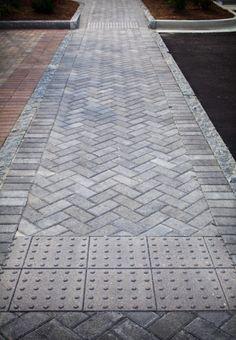 Holland Stone in Herringbone Pattern