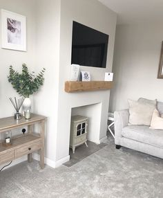 Fantastic Free Fireplace Remodel gray Suggestions – Rebel Without Applause Living Room Renovation, Living Dining Room, Apartment Living Room, New Living Room, Log Burner Living Room, Living Room Grey, Cottage Living Rooms, Cosy Living Room, Country Living Room