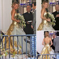 Serena's Gossip Girl Wedding Dress and bouquet ~ Georges Chakra