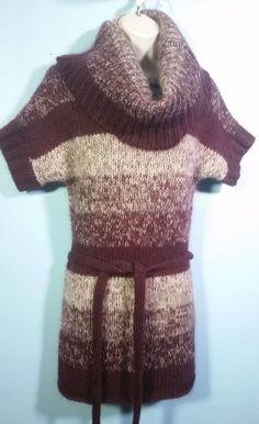 SUPERB Moda International Lambs-Wool/Mohair Blend Huge Cowl-Neck Sweater-Dress S #ModaInternational #SweaterDress