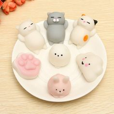 Mobile Phone Accessories Kawaii Cute Squishy Mini Small Cloud/pig/donut/banana Soft Squeeze Press Slow Rising Phone Strap Bread Cake Kid Toy Ushihito 1pc