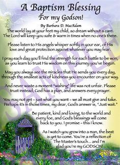 Blessing For A Godson | Affordable Inspirational Poem for Sister, birthday blessing gift