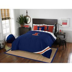 Illinois Fighting Illini NCAA Bed in a Bag (Contrast Series)(Full)