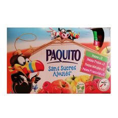 Paquito Fruit Pouches (No Added Sugar) 12x90g from France made by Paquito  Paquito Fruit Pouches (No Added Sugar) 12x90g  Flavours: Apple, Apple / Strawberry, Apple / Mango, Apple / Raspberry  Nutrition: it is recommended to consume 5 fruits and vegetables per day. In addition, a fruit pouch is one of the 5 daily servings in your child's diet.  So what are you waiting for? Grab yours now! Fruit Pouches, Kids Diet, Fruits And Vegetables, Your Child, Waiting, Strawberry, France, Apple, Mango
