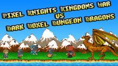Enjoy this free Pixel Knights Kingdoms War vs Dark Voxel Dungeon Dragons game Evil Knight, Dark Knight, Pixel Dragon, Science Textbook, Democracy Now, Dragon Games, Battle Games, Dungeons And Dragons, Games To Play