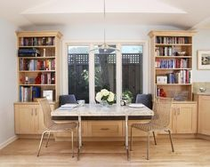 Built ins/window seat/should go up to ceiling.  Light and airy kitchen, for two cooks - contemporary - kitchen - san francisco - Sustainable Home