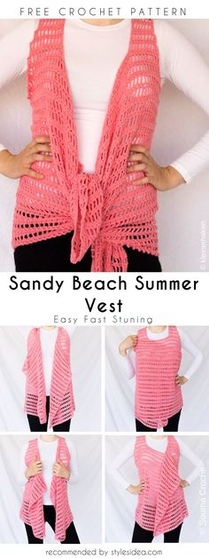 Among others, this crochet vest modeldoeshighlight super easy and functional features. Everybody can do that, becauseof a free sizing, so everybody can make