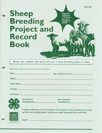 Purchase Sheep Breeding Project and Record Book from the Ohio State University Extension Publications store 4 H Club, Animal Science, Recorded Books, Science Projects, Sheep, Livestock, Ohio, Barn, Columbus Ohio