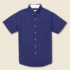 Double Bar Dobby Shirt - Navy