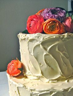 #Organic wedding cake by #Oakland Bakes #weddingcake