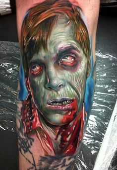 Great Dawn of the Dead Tattoo by Paul Acker.