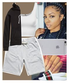 """"""""""" by msixo ❤ liked on Polyvore featuring Native Union, Reigning Champ, H&M and Gucci"""
