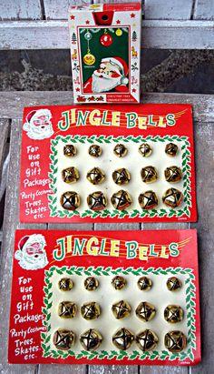 Vintage Christmas jingle bells retro by LittleBeachDesigns on Etsy, $24.00