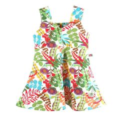 girl retro bustier dress with floral print multicolor by OEPSIE, €52.00