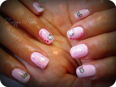 Hello kitty nails Acrylic nails Uñas decoradas