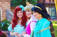 Ariel, Aurora and Jasmine