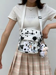 Women's Bags | Crossbody Bags, Backpacks & More | ROMWE USA Canvas Crossbody Bag, Cheap Bags, Cow Print, Romwe, Shopping Bag, Diaper Bag, Canvas Prints, Shop Ideas, Women's Bags