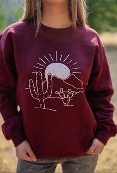 Burgundy Desert Sweatshirt – Ruby Rue Jewelry & Accessories Jewelry Accessories, Burgundy, Graphic Sweatshirt, Turquoise, Boutique, Sweatshirts, Sweaters, Shopping, Tops