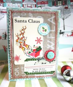 I love the vintage feel of this card by lexi bridges.