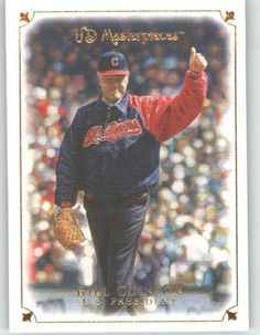 2007 Upper Deck / UD Masterpieces #76 Bill Clinton - President of the United States (Presidential First Pitch) (Baseball Cards) by Upper Deck. $4.77. 2007 Upper Deck / UD Masterpieces #76 Bill Clinton - President of the United States (Presidential First Pitch) (Baseball Cards)