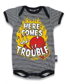 HERE COMES TROUBLE, Six Bunnies Baby, Romper at Switchblade Clothing