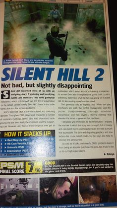 — chemiro: Silent Hill 2 wasn't always beloved. Silent Hill Series, Silent Hill Art, Cool Photos, First Love, Videogames, Creepy, Archive, Gaming, Fandoms